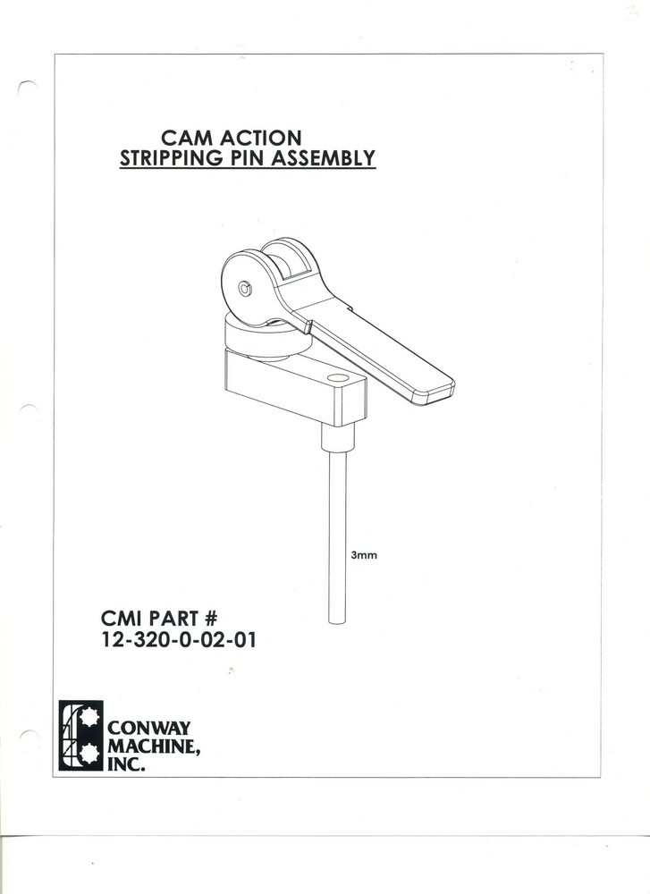 CAM ACTION Stripping Pin Assembly