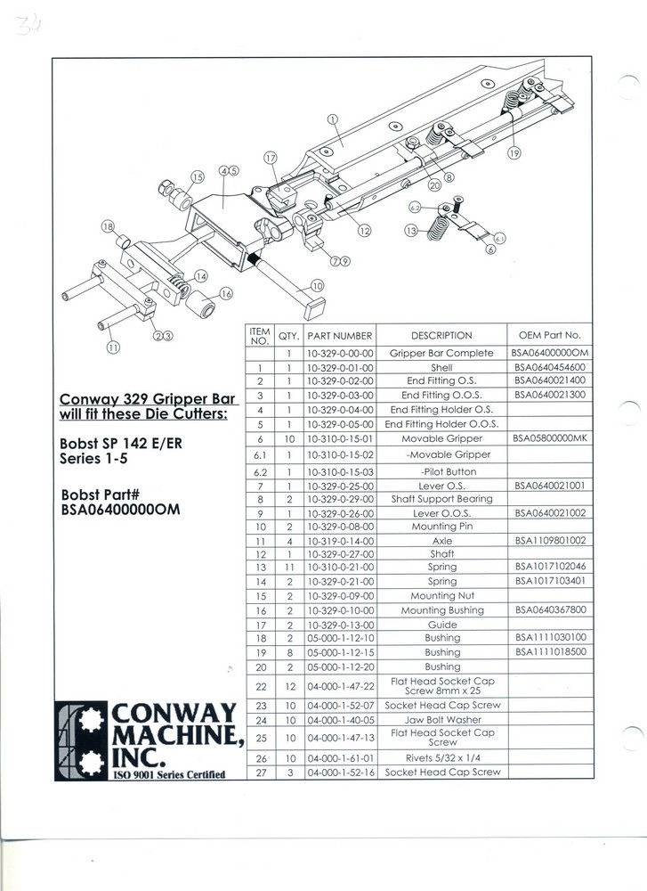 BOBST SP 142 E/ER Series 1-5