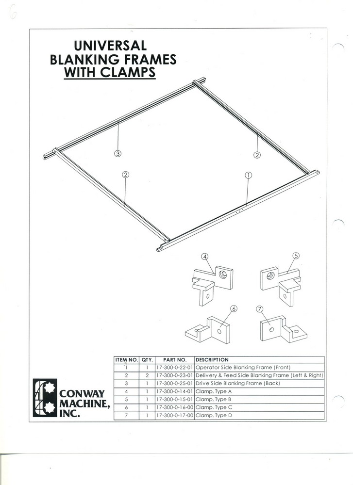 Uniwersal Balnking Frames with Clamps