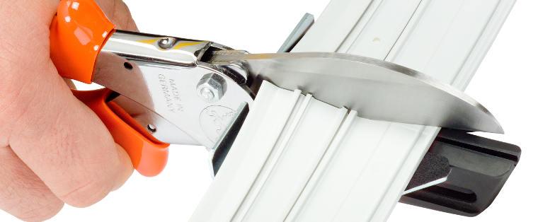 Nożyce ręczne do cięcia kontrbigów, profili gumowych, listew do fotopolimerów