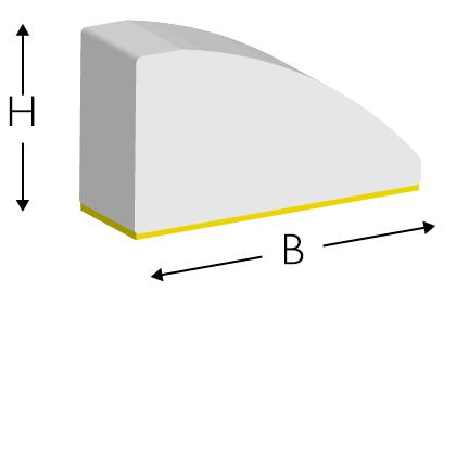 Profile gumowe B/2